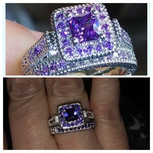 Jewelry - Amethyst white gold ring